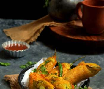 Stuffed mirchi bajji recipe