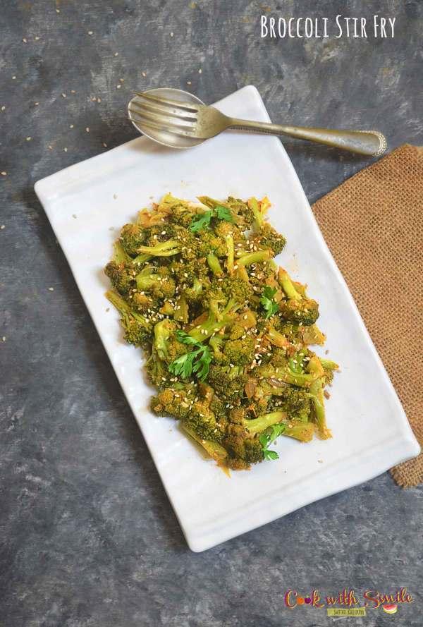 indian style broccoli stir fry