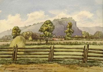 Stirling Castle from the Bridge of Allan, 1870, John Scott