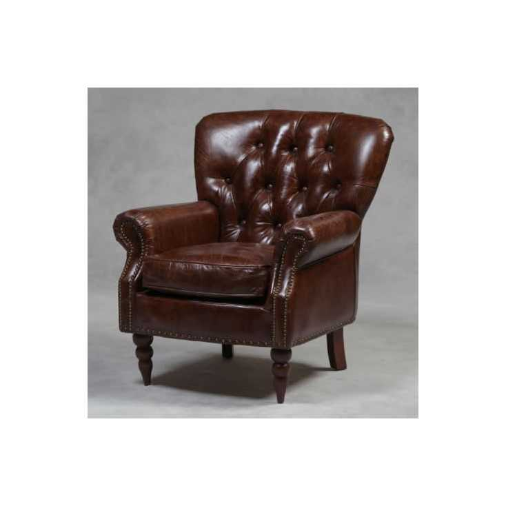 Vintage Button Leather Chair