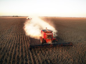 Smith Family Farms combine during harvest