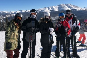 Smith Family skiing