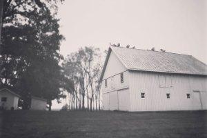 Black and white vintage photo of Smith Family Farms