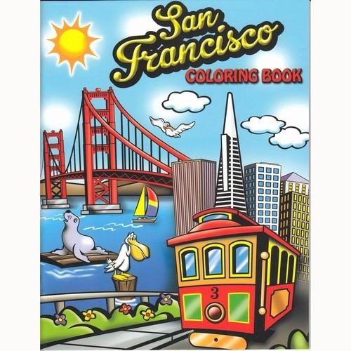 Smith Novelty San Francisco Coloring Book