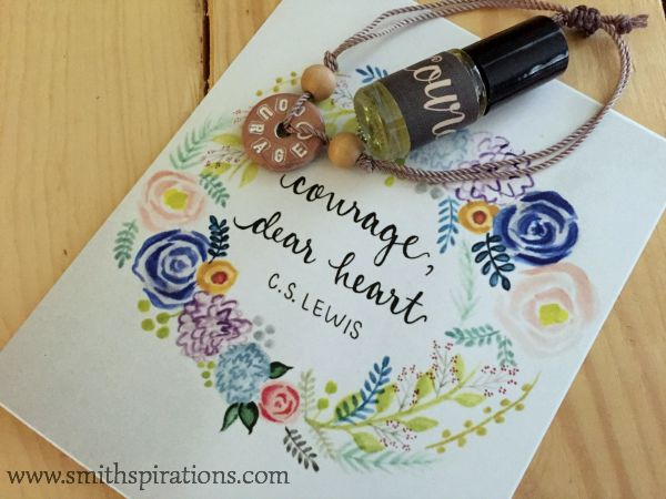 courage print, courage bracelet, courage eo blend from pioneer heart