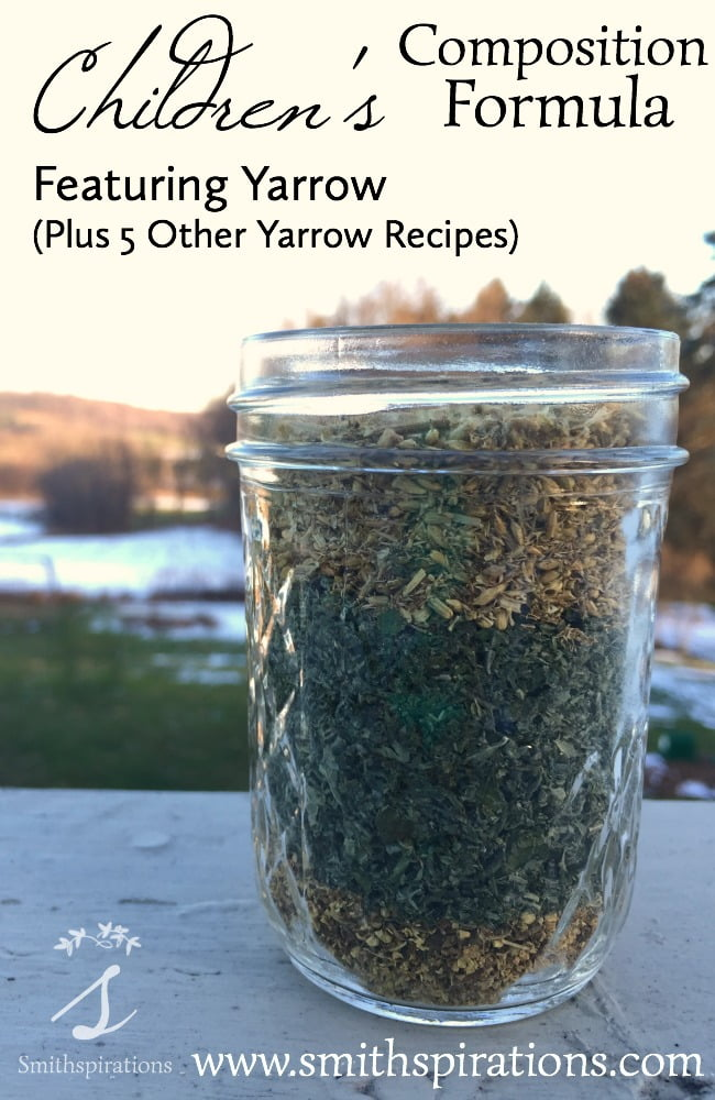Children's Composition Formula, Featuring Yarrow, Plus 5 other Yarrow Recipes. The Children's Composition Formula is an excellent herbal blend to keep on hand for cold and flu season, supporting respiratory health, gently reducing fevers, and fighting off harmful microbes.