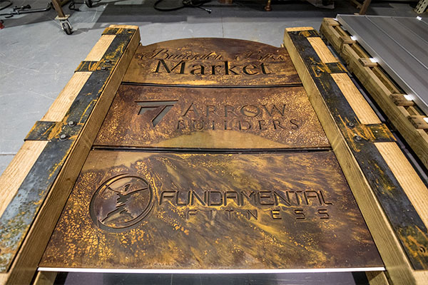 Custom Rustic Monument Signs Smith Steelworks