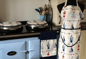 Apron, Aga covers, roller towel by Smith & Co