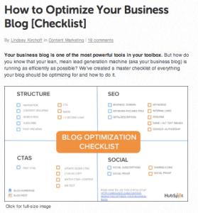 Unbounce.com Blog Checklist article