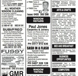 Classified advertising for local events