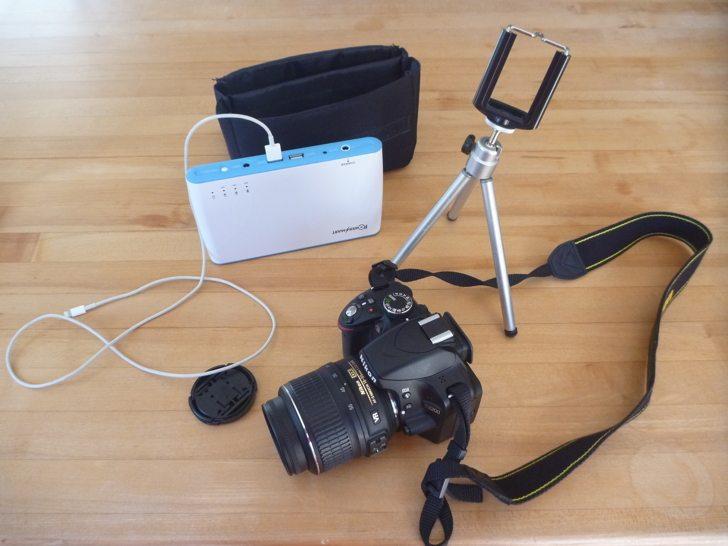 Social Media kit - cameras, battery, tripod
