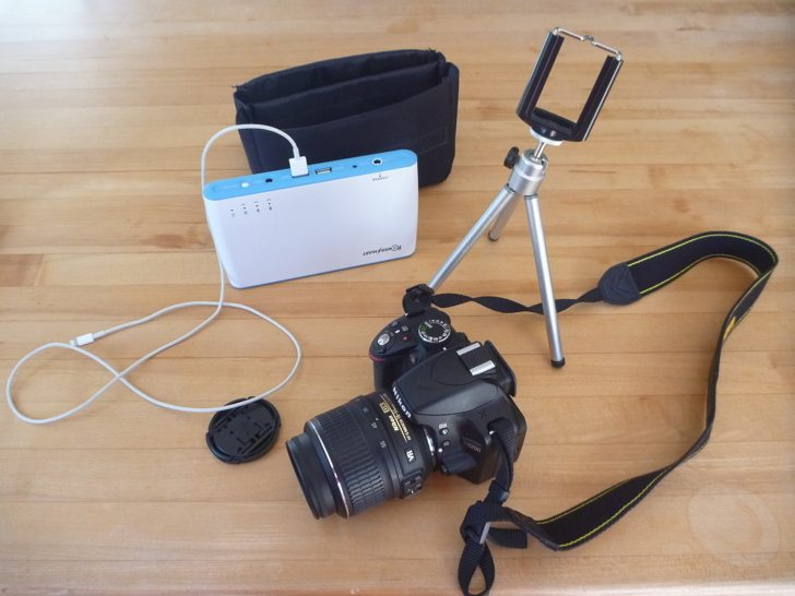 Social Media kit - cameras, battery, tripod