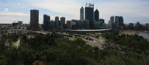 Perth Australia view of Kwinana Freeway from Kings Park