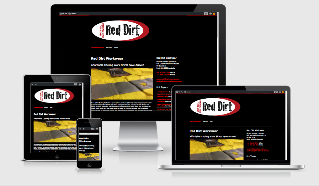 Red Dirt Workwear uses WordPress.com website
