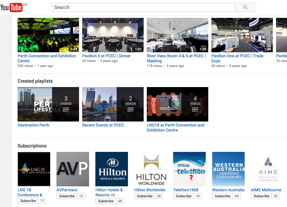 Conference and expo venue operators have professional connections