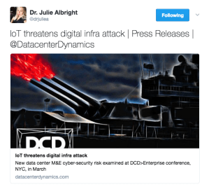 Dr. Julie Albright promotes DCD Converged in her Tweets