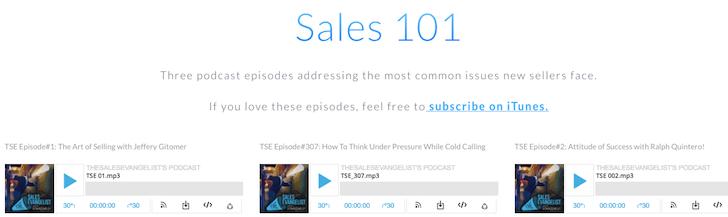 The Sales Evangelist, Sales Podcast, Sales Training