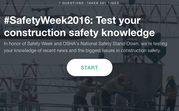 Construction site safety quiz
