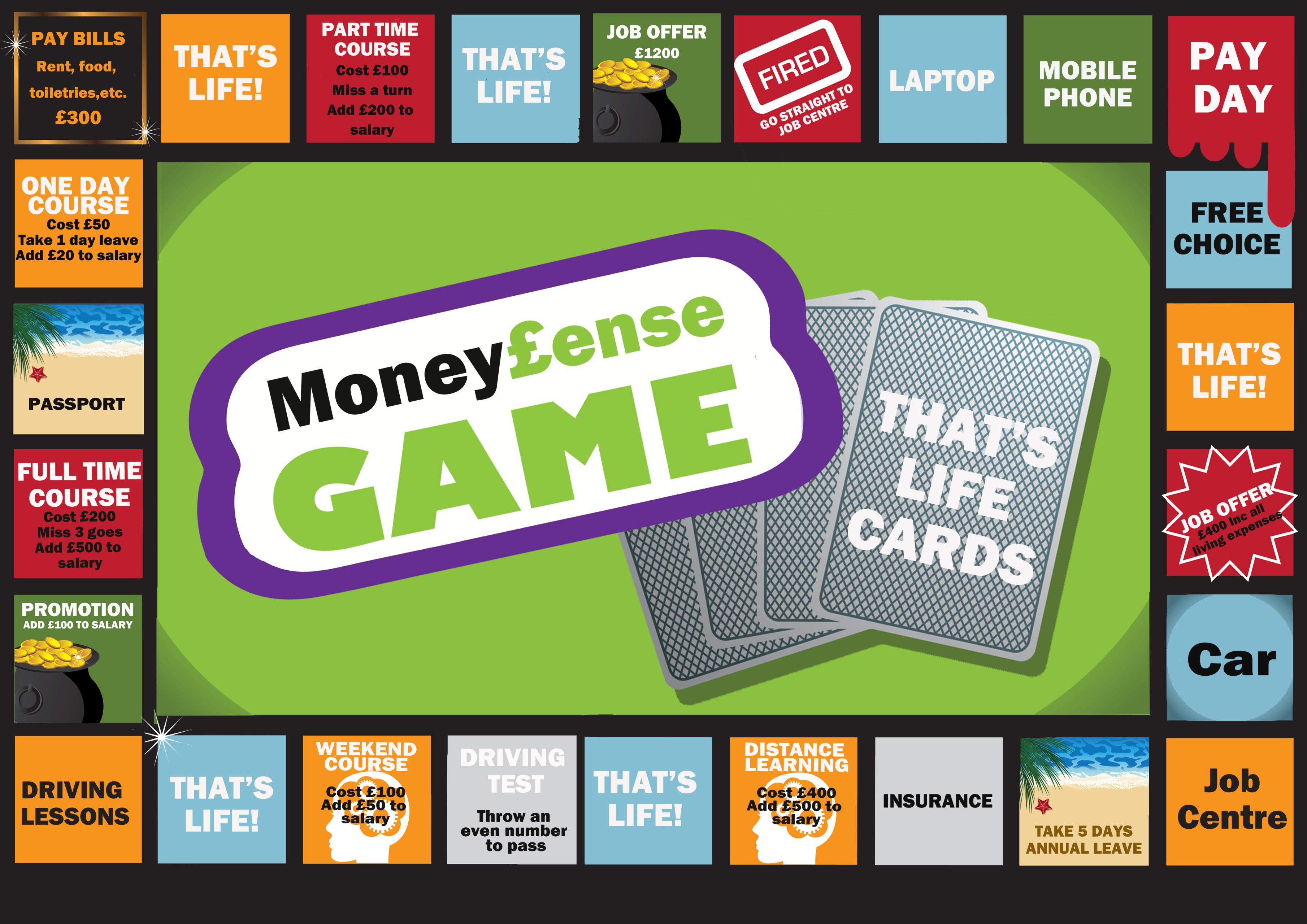 Money Ense Board Game