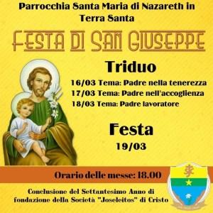 VIA CRUCIS PARROCCHIALE del 19 marzo 2021 e SOLENNITÀ DI S. GIUSEPPE