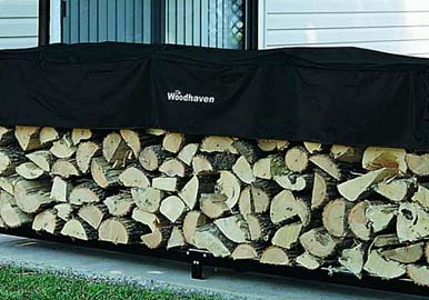 The Woodhaven 8ft Firewood rack