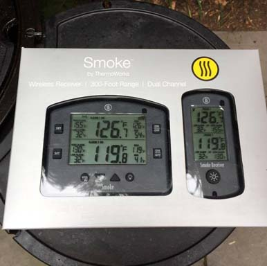 Smoke packaging box thermometer