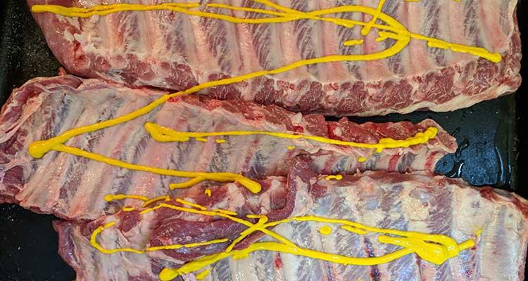 Pork ribs mustard