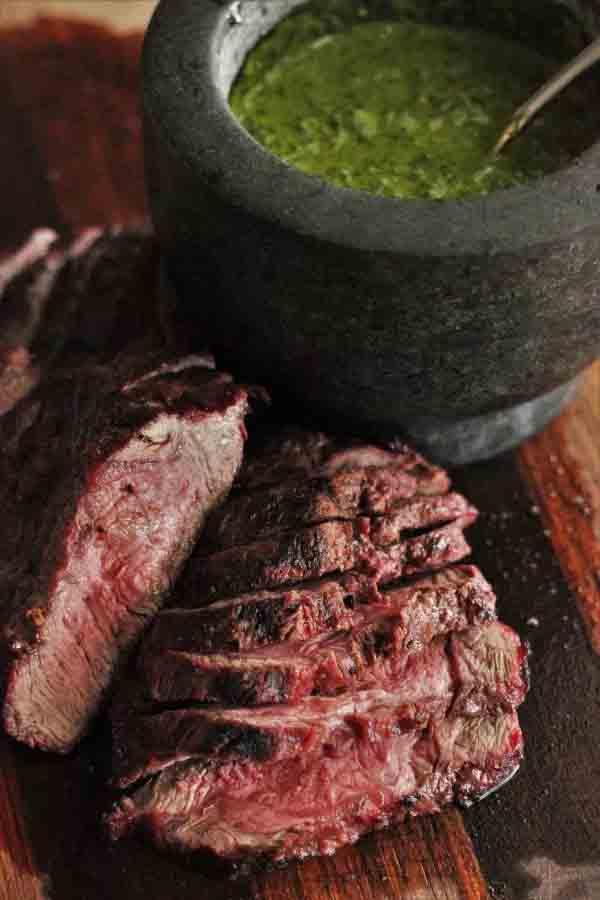 grilled flat iron steak