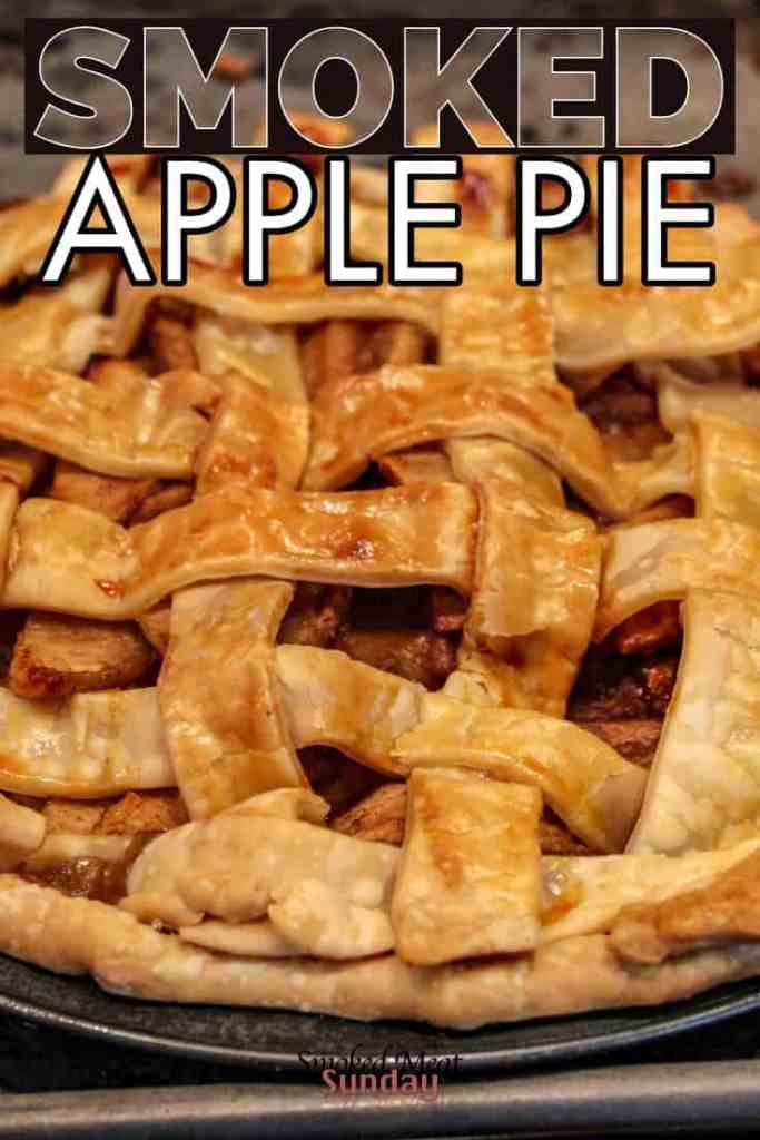 Have you ever wondered how to make the perfect apple pie? This smoked apple pie recipe is one of my absolute favorites! It's easy to follow, and includes a made from scratch pie crust recipe too.