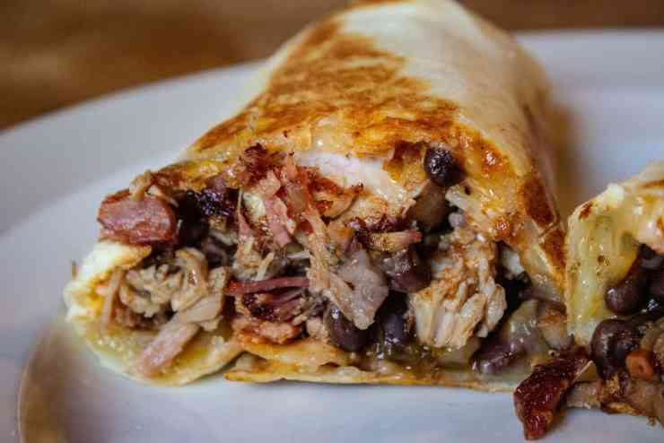 cheesy pulled pork burrito recipe