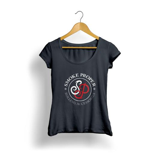 Girls Black T-shirt white/red logo | Smoke Proper Rolling Accessories