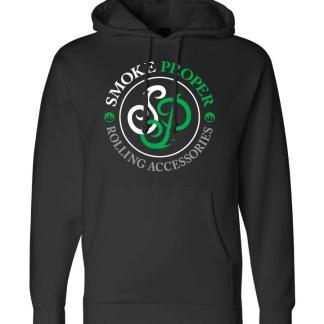 Black Hoodie Green text | Smoke Proper Rolling Accessories