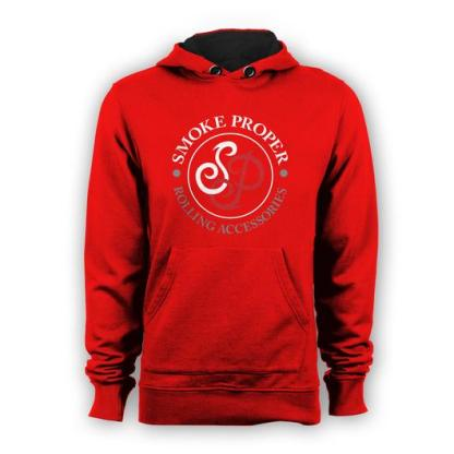 Red hoodie white/red logo | Smoke Proper Rolling Accessories
