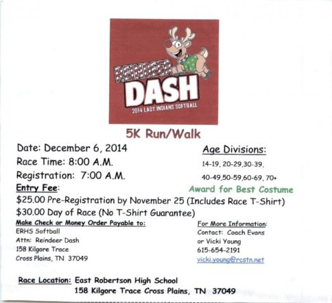 ERHS 5k Dec 2014