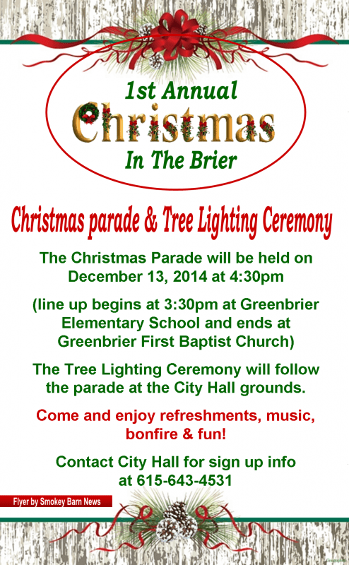 first annual Christmas in the Brier