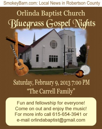 Gospel night Feb 9