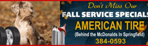 Tire wide fall specials