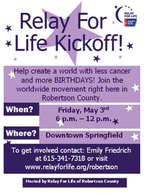 relay for Life May 3 flyer