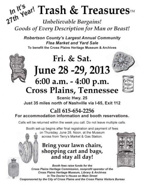 trash & treasures flyer