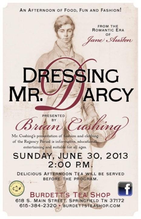 Dressing Mr Darcy flyer