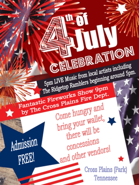 cross plains july 4 flyer
