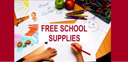 free school supplies slider