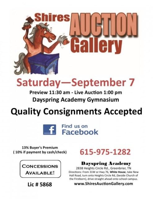 Shires Auction Sept 7