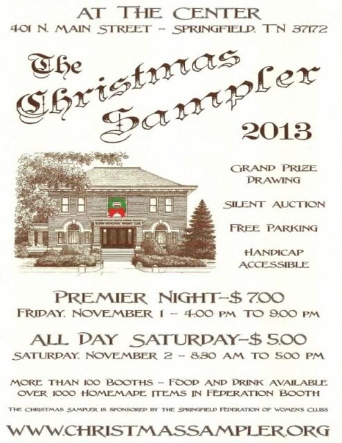 Christmas sampler flyer