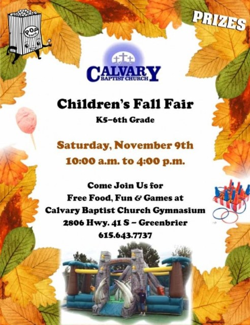 Calvary Fall Fair 2013