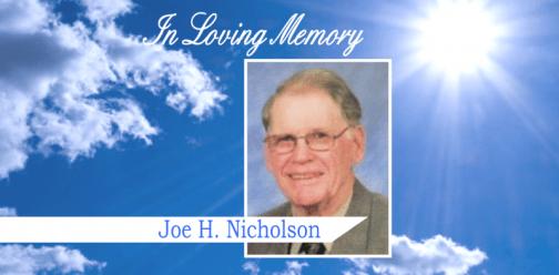 In loving memory Joe Nicholson