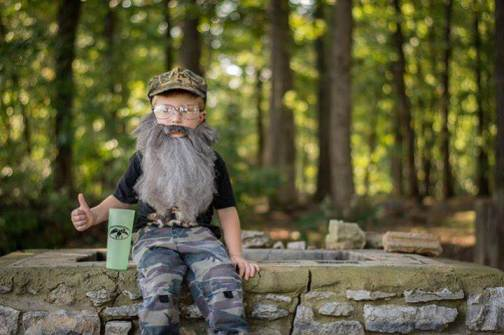 Submitted by Gretchen Allen 4 yr old Bryce as Si Robertson