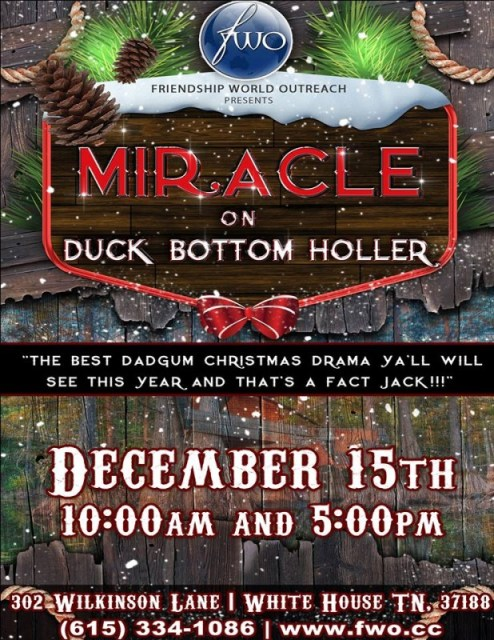 Miracle On duck Bottom holler in White house