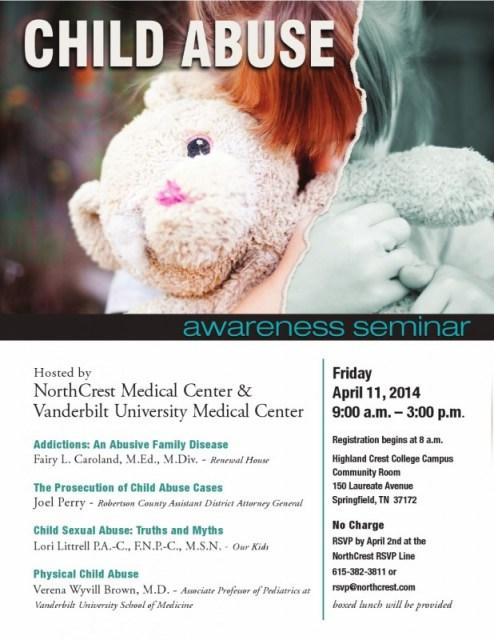 child abuse seminar flyer