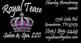 Royal Tease business card